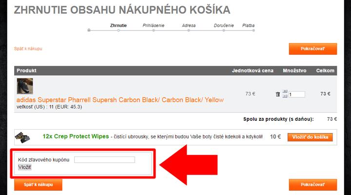 Ako uplatniť zľavový kód na FootShop.sk
