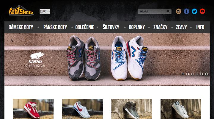 FootShop.sk - náhľad obchodu