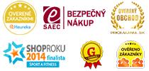 inSPORTline.sk - ocenenia a certifikáty
