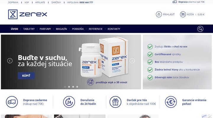 Zerex.sk - náhľad obchodu