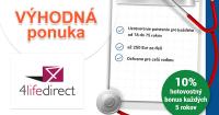 4LifeDirect.sk bonus 10% na nemocničné poistenie, akcia, zľava, kupón