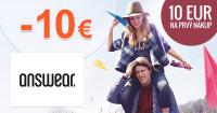 Answear.sk zľava -10€ na prvý nákup, kupón, akcia