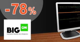 BigON.sk zľavový kód zľava -78%, kupón, akcia