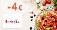Bistro.sk zľavový kód zľava -4€, kupón, akcia