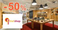 ChefShop.sk zľavový kód zľava -50%, kupón, akcia