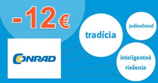 Conrad.sk zľavový kód zľava -12€, kupón, akcia