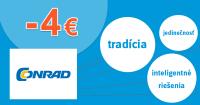 Conrad.sk zľavový kód zľava -4€, kupón, akcia