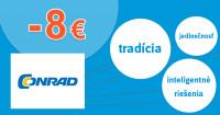 Conrad.sk zľavový kód zľava -8€, kupón, akcia
