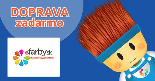 eFarby.sk doprava zadarmo, akcia, zľava, kupón