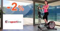 inSPORTline.sk zľavový kód zľava -2%, kupón, akcia