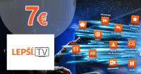 Lepšia.TV za 7€ mesačne, kupón, akcia, zľava
