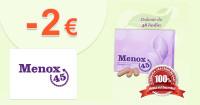 Menox45.sk zľavový kód zľava -2€, kupón, akcia