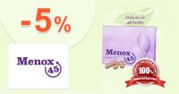 Menox45.sk zľavový kód zľava -5%, kupón, akcia