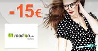 Modino.sk zľavový kód zľava -15€, kupón, akcia