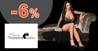 NajlepsiaModa.sk zľavový kód zľava -6%, kupón, akcia