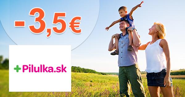 Pilulka.sk zľavový kód zľava -3,5€, kupón, akcia