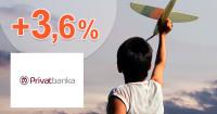 PrivatBanka XXL výnos 3,60% ročne, akcia, kupón