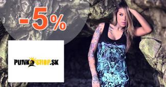 PunkShop.sk zľavový kód zľava -5%, kupón, akcia
