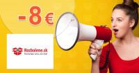 Rozbalene.sk zľavový kód zľava -8€, kupón, akcia
