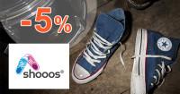 Shooos.sk zľavový kód zľava -5%, kupón, akcia