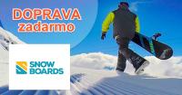 Snowboards.sk doprava zadarmo, akcia, zľava, kupón