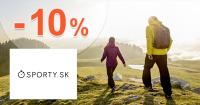 Sporty.sk zľavový kód zľava -10%, kupón, akcia