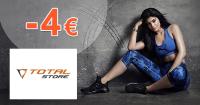 Total-store.sk zľavový kód zľava -4€, kupón, akcia