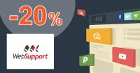 WebSupport.sk .EU domény zľavový kód zľava -20%, kupón, akcia