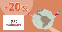 WebSupport.sk SSL certifikát zľavový kód zľava -20%, kupón, akcia
