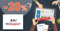 Websupport.sk .sk zľavový kód zľava -20%, kupón, akcia, vlastná webstránka