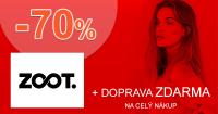 ZOOT.sk zľavový kód zľava -70%, kupón, akcia