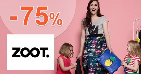 ZOOT.sk zľavový kód zľava -75%, kupón, akcia