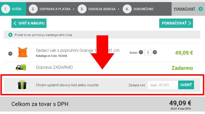 Ako uplatniť zľavový kód na 4Home.sk