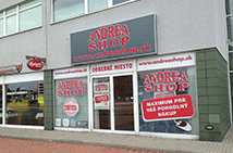 AndreaShop.sk odberné miesto Panónska cesta