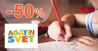 Vzdelávacie potreby až -50% zľavy na AgatinSvet.sk