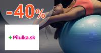 Športové potreby až -40% zľavy na Pilulka.sk