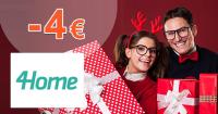 4Home.sk zľavový kód zľava -4€, kupón, akcia