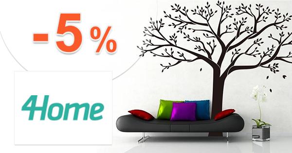 4Home.sk zľavový kód zľava -5%, kupón, akcia