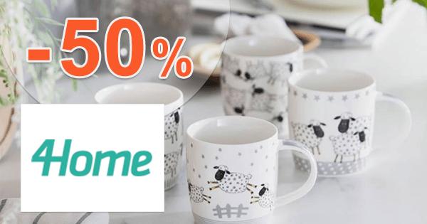 4Home.sk zľavový kód zľava -50%, kupón, akcia, výpredaj, zľavy, výhodné sady