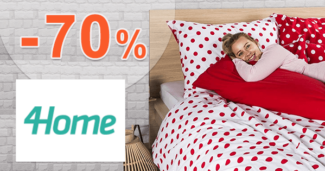 4Home.sk zľavový kód zľava -70%, kupón, akcia, výpredaj, zľavy, bytový textil