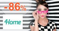 4Home.sk zľavový kód zľava -86%, kupón, akcia, výpredaj