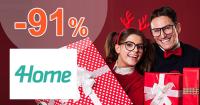 4Home.sk zľavový kód zľava -91%, kupón, akcia, výpredaj