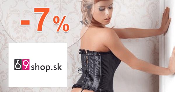 69shop.sk zľavový kód zľava -7%, kupón, akcia