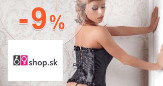 69shop.sk zľavový kód zľava -9%, kupón, akcia