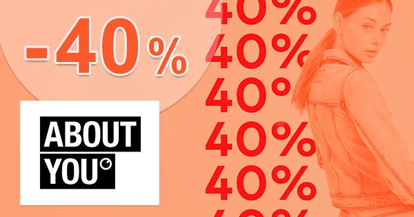 Až -40% EXTRA zľava na bundy na AboutYou.sk