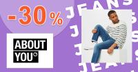 Až do -30% EXTRA zľava na džínsy na AboutYou.sk