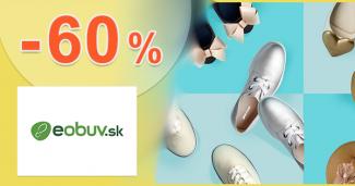 Až do -60% zľavy na STOVKY kúskov na eObuv.sk