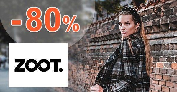AKTUÁLNE ZĽAVY až do výšky -80% na ZOOT.sk
