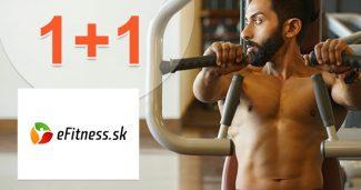 Akcia 1+1 na TOP výživové doplnky na eFitness.sk