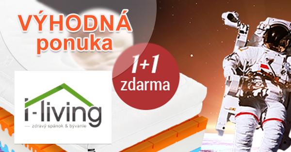 Akcia 1+1 zdarma na I-Living.sk